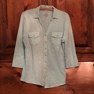 Women's Sonoma mint green blouse small.